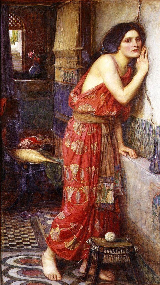 """Thisbe"".  (1909). (by John William Waterhouse)."
