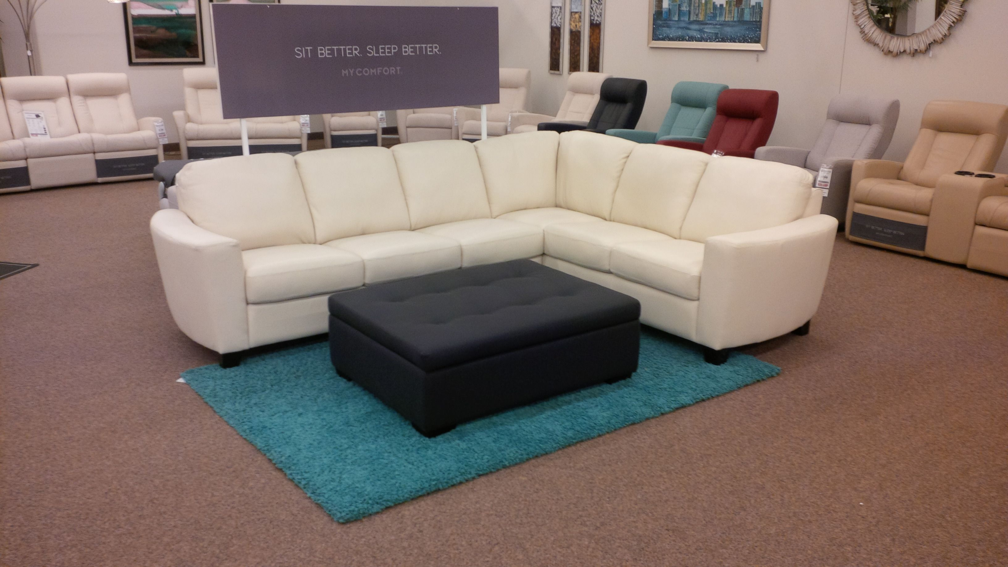 Nap time Our Kylan sectional provides just the right environment