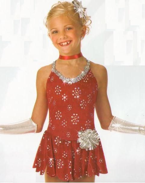 Christmas Ice Skating Costumes.Red Red Rose Tap Ice Skating Dress Christmas Dance Costume