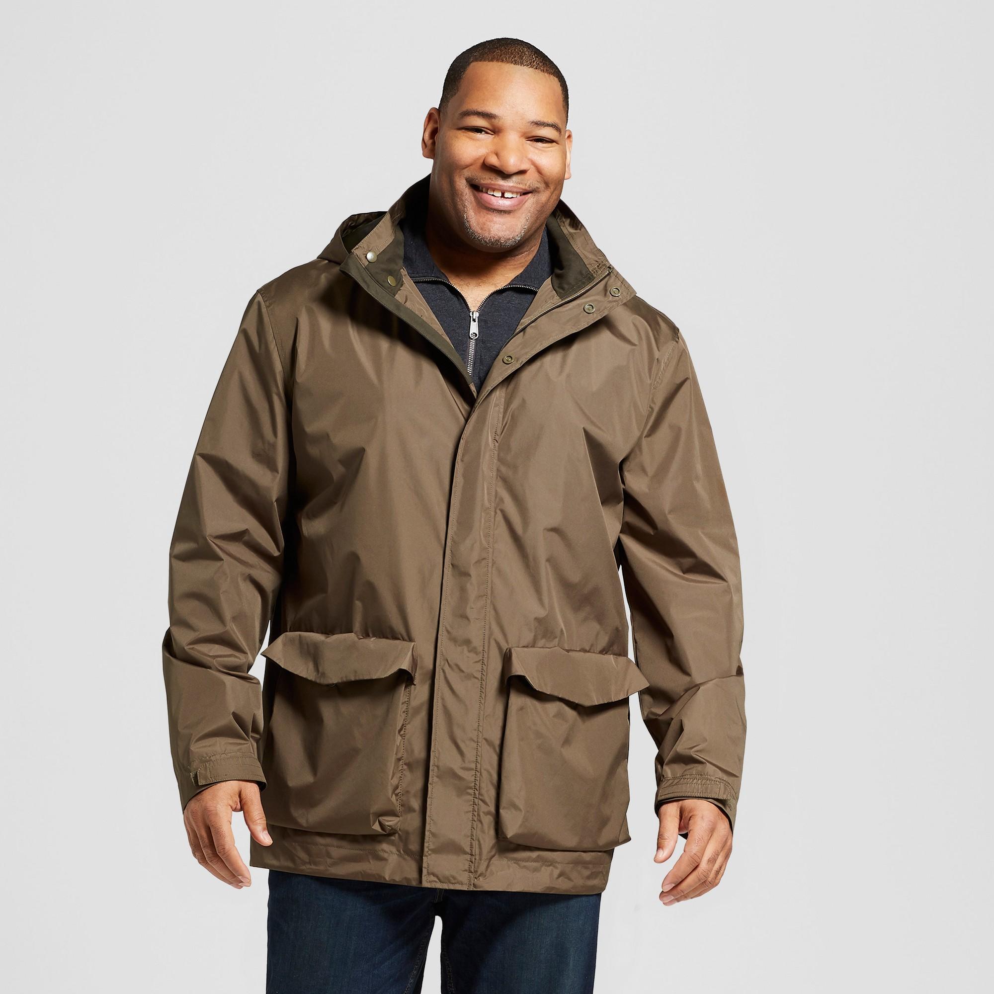 ab74a138d Men's Tall Outerwear Rain Jacket - Goodfellow & Co Olive XL Tall, Muddied  Basil