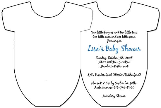 Rock Star Blue Onesie Baby Shower Invitations  Manualidades
