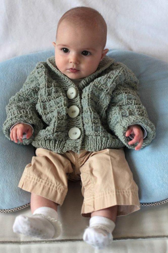 Baby Cardigan In Plymouth Yarn Dandelion And Daisy 2253