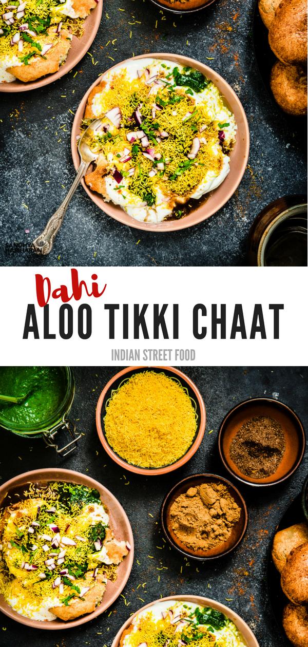 dahi aloo tikki chaat recipe dahi aloo tikki recipe indian street food indian food on hebbar s kitchen recipes aloo tikki id=91045