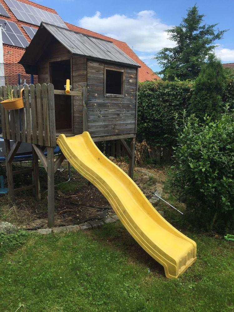 Good Stelzenhaus Kinderhaus Gartenhaus Spielhaus mit Rutsche