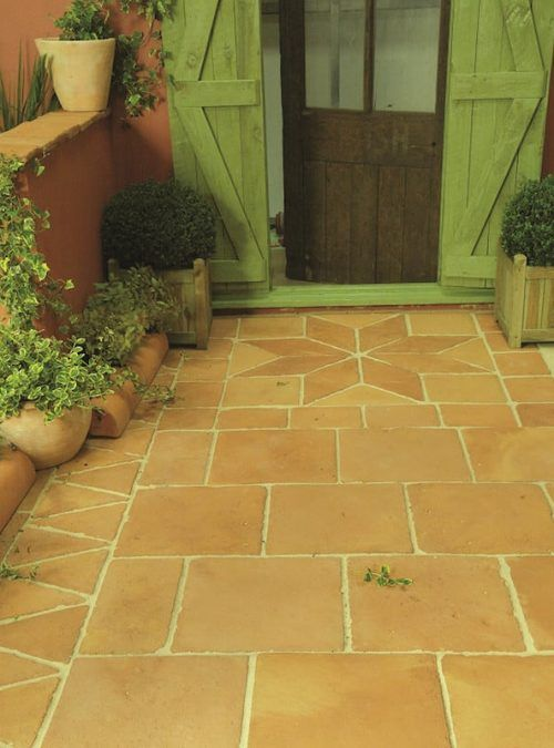 Old Provence Square Tiles is part of Garden slabs, Garden tiles, Country cottage garden, Garden floor, Wooden garden planters, Perfect patio - These beautifully proportioned 315x315mm Old Provence Square Terracotta Tile reproductions will introduce a taste of Provencal living to any garden or home  With a 30mm thickness these traditional square garden slabs are ideal for patios, paths, garden rooms & summerhouses  Please Note all the Provence range is currently on a delivery time of 3 to 5 weeks  Buy a Sample
