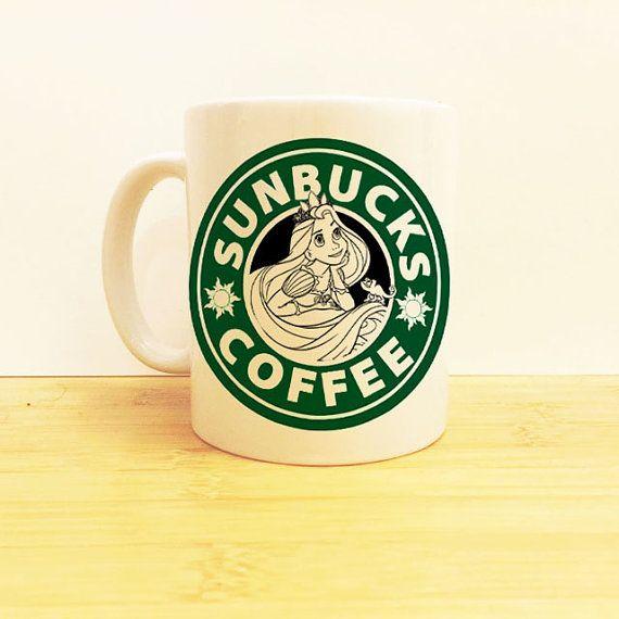 Sunbucks Coffee Mug 11 oz -Disney Princess Starbucks - Tangled - Princess…