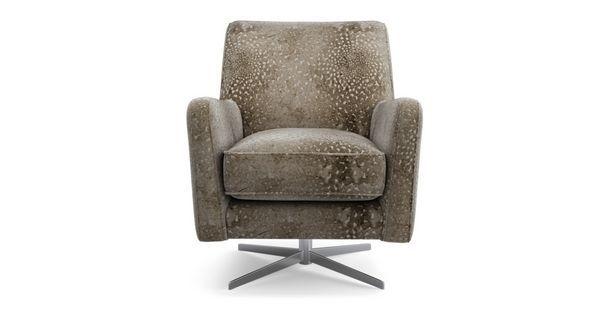sophia patterned accent swivel chair sophia dfs living room