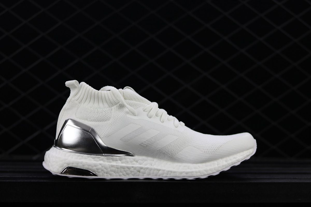473881303 2018 Ronnie Fieg Kith x adidas Ultra Boost Mid White Silver For Sale –  Adidas NMD