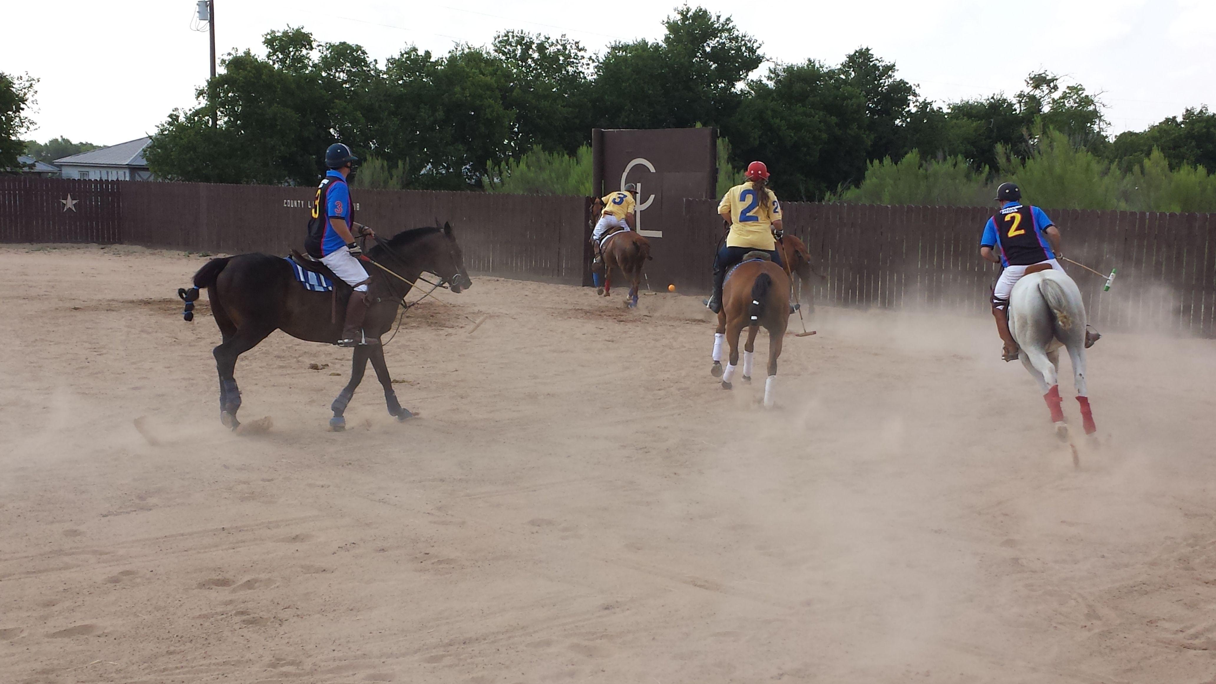 Arena polo in Texas. Photo by Diane Goforth Bray #polo #polohorses #countylinepolo #texas #poloplayers