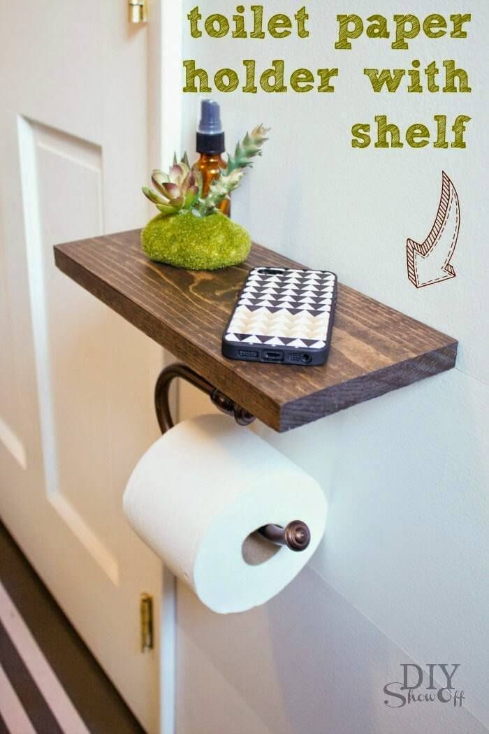 Photo of Prim-And-Proper Toilet Paper Holder And Shelf