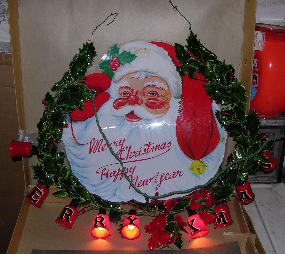 Noma Christmas Decorations: VINTAGE NOMA DECORATIVE LIGHTING CHRISTMAS DISPLAY SANTA