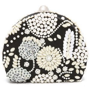 Santi Imitation Pearl Embroidered Clutch  db7a19a645813