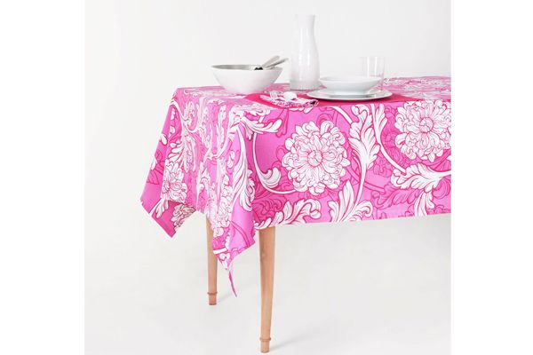 Zara Home Fuchsia Flowers Tablecloth