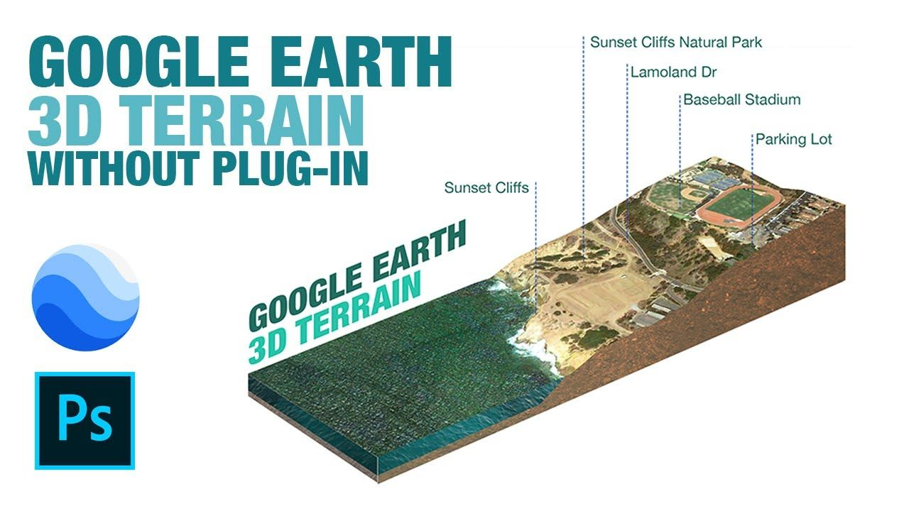 3d Isometric Terrain From Google Earth And Photoshop Without Plug