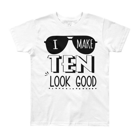 10th Birthday Shirt Boy Tenth Outfit Ten Year Old Gift