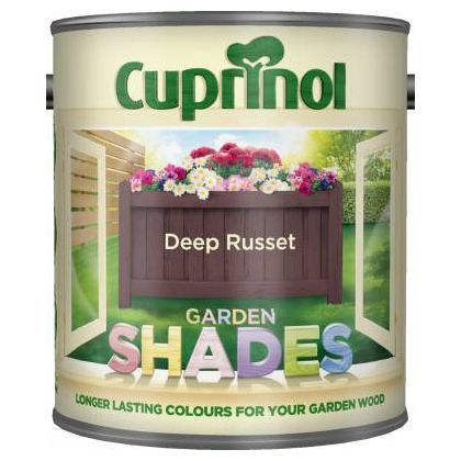 Cuprinol Garden Shades - Deep Russet - 1L at Homebase -- Be inspired and make your house a home. Buy now.