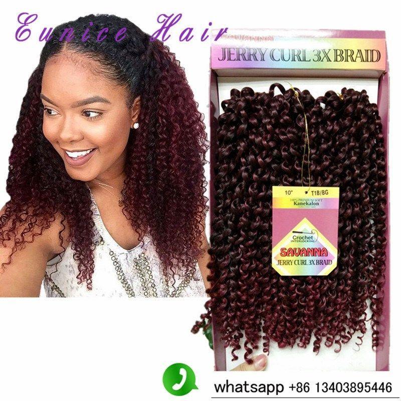 Freetress Crochet Braid Curly Hair Savanna Jerry Curl 3x