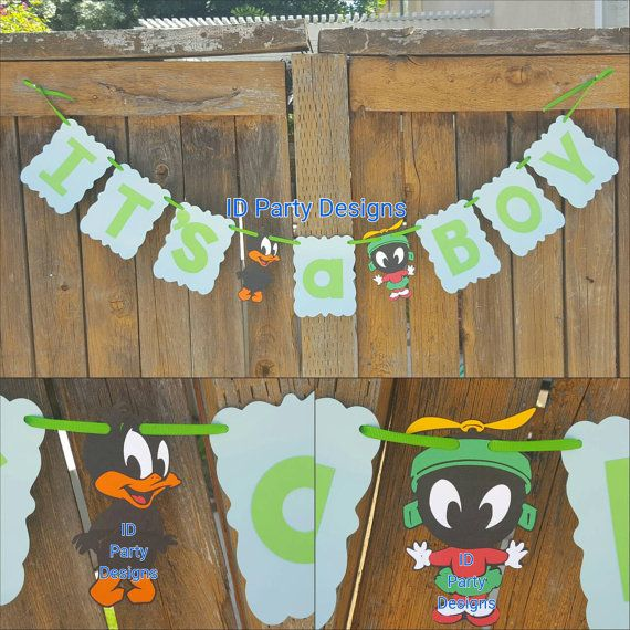 baby looney tunes banner baby shower centerpieces bugs bunny taz