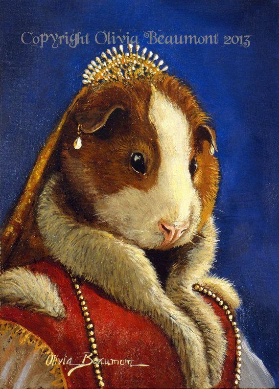 Guinea Pig A Grand Image 5x7 Print Cavia Pinterest