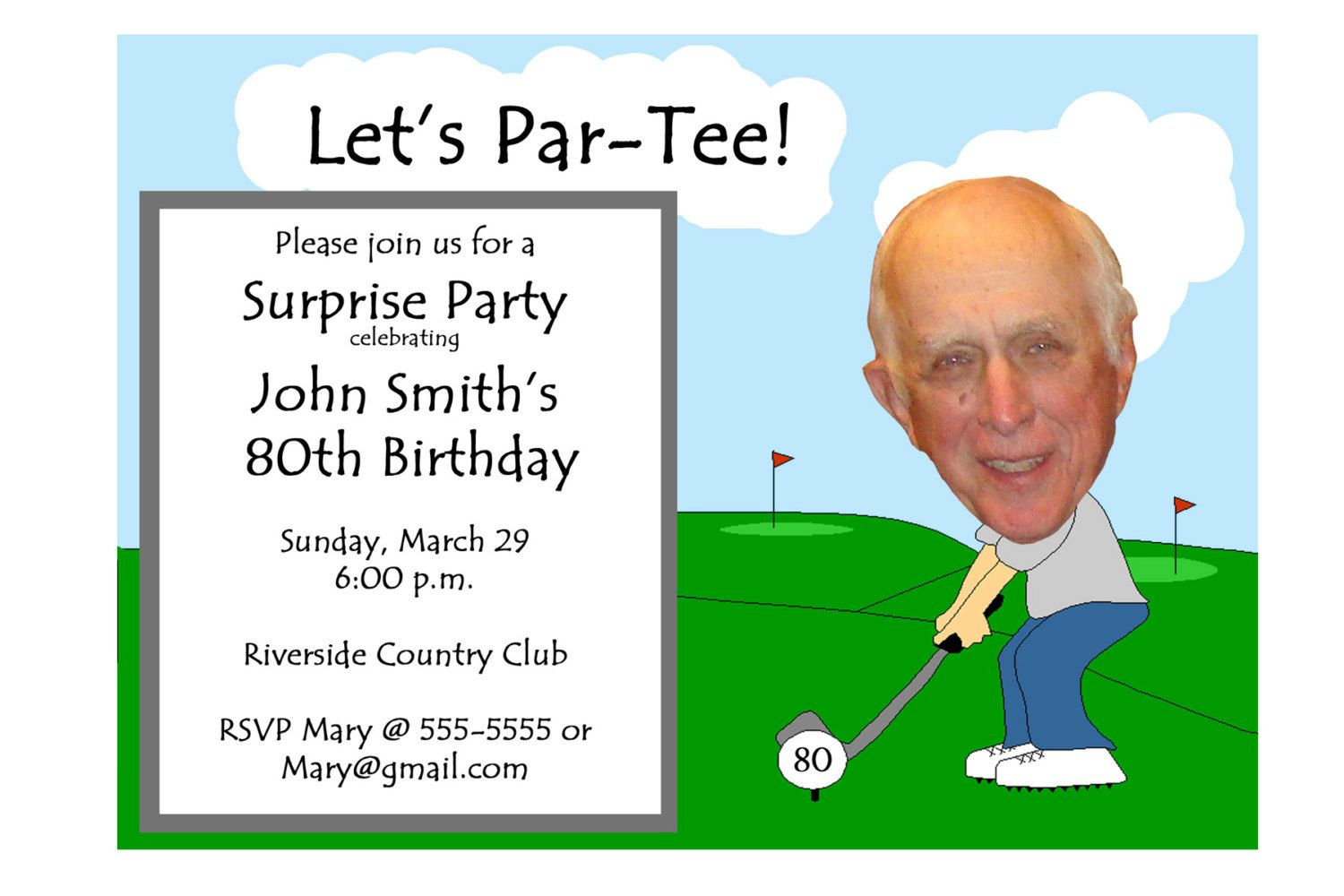 Golf Themed Funny Unique Retirement Invitation by PictureYourself ...