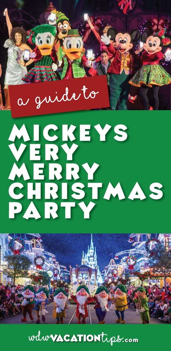 Guide to Mickey\u0027s Very Merry Christmas Party 2018 Disney World