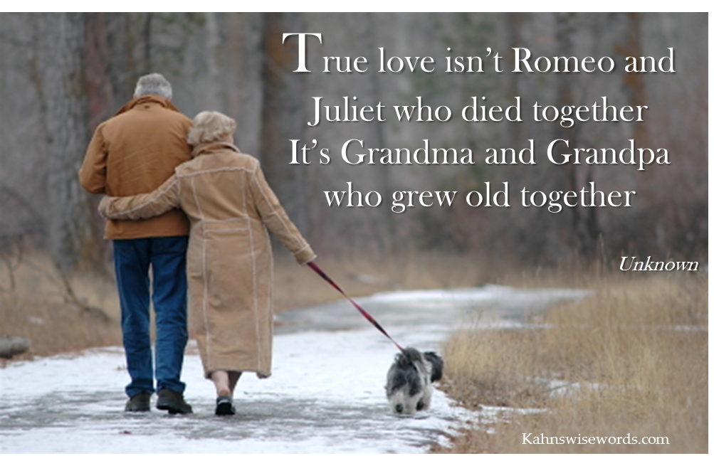 Quotes Growing Old Together. QuotesGram | Old couple in love ...