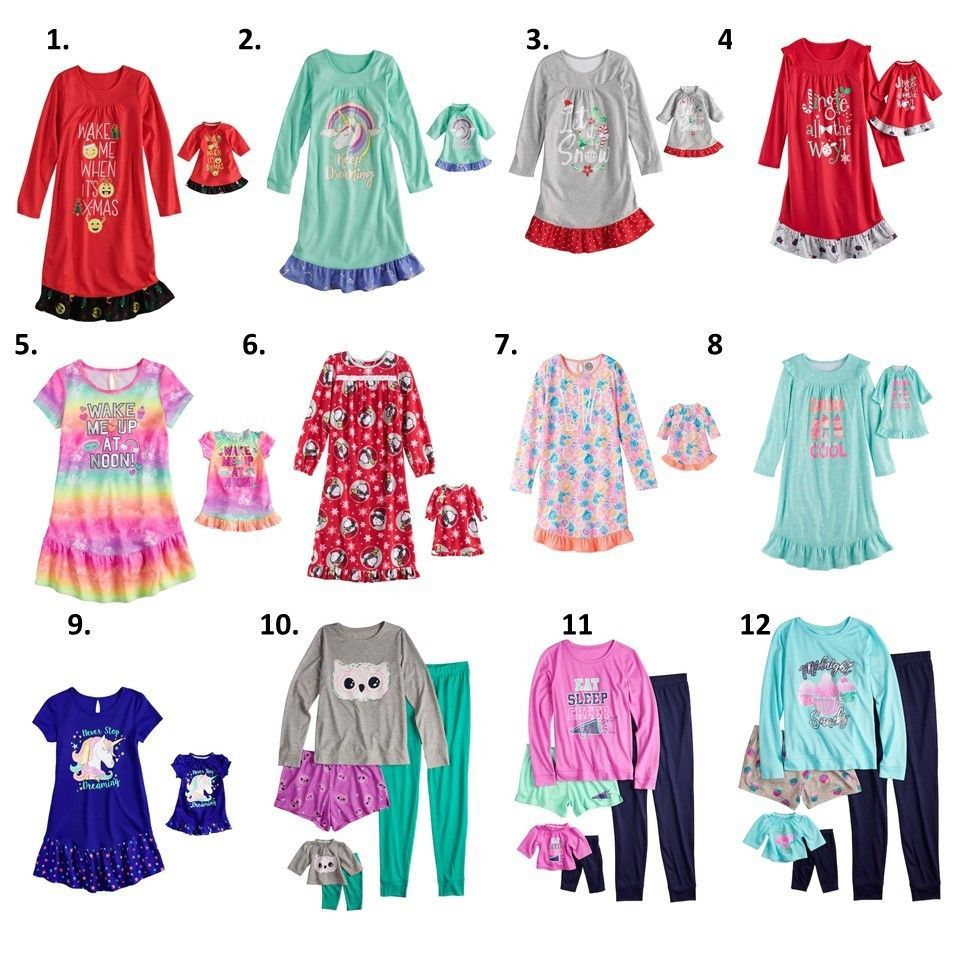 4ed2919589 Sleepwear 99735  Girl 4-14 And 18 Doll Matching Nightgown Pajamas Ft Dollie  Me And American Doll -  BUY IT NOW ONLY   16.99 on  eBay  sleepwear   matching ...