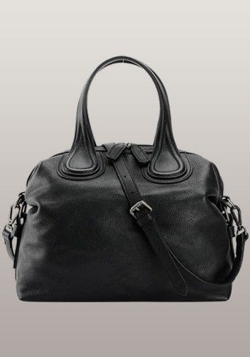 645482a458  129 - Givenchy Nightingale Dupe - Giovanna Cowhide Grained Leather Bag  Black