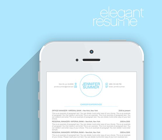 Elegant Resume Template - Premium line of Resume \ Cover Letter - cover letter templates for resume