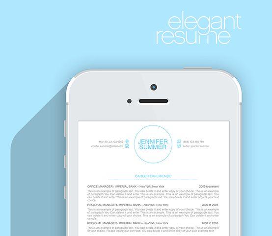 Elegant Resume Template - Premium line of Resume \ Cover Letter - cover letter templates for resume