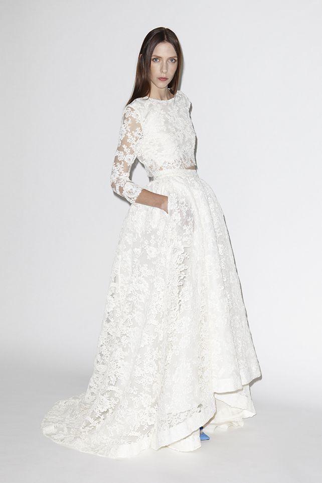Houghton Two Piece Wedding Dress Wedding Dresses Unique Wedding Gowns