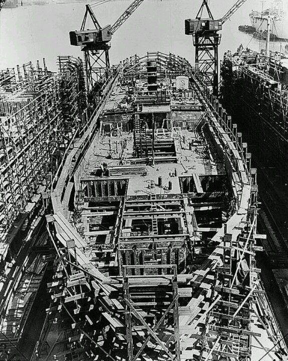 1943 Building A Liberty Ship Bethlehem Shipyard