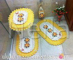 Material Utilizado – Jogo Banheiro Oval Amarelo | Manu e Manias