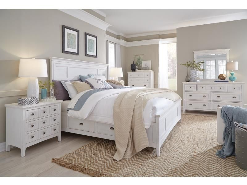 Helena Chalk White Bedroom Collection White Bedroom Set Furniture White Bedroom Set King Bedroom Sets