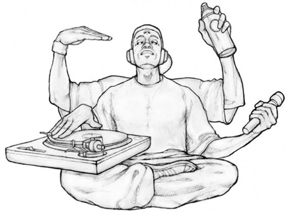 Elements of Hip Hop: Graffiti, MCing, Break dancing