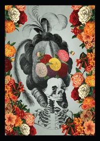 A4 Framed Print : Bones & Blooms from Pierrot et Coco