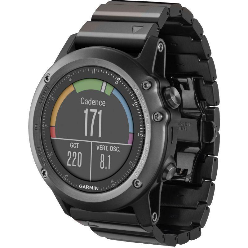 Garmin fenix 3 Sapphire Multisport GPS Watch, Gray