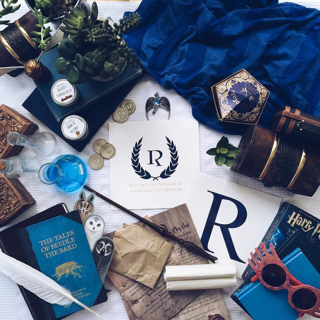 Wit beyond measure is man's greatest treasure. Just peeked in my planner and realized that today is Ravenclaw House Pride Day! Where my Ravenclaws at? Founded by Rowena Ravenclaw those in Ravenclaw house are defined by their wit learning creativity and wisdom. Also often known as quirky and possess unusual intellectual interests (we're looking at you Luna) Ravenclaws generally accept and encourage eccentricities. Notable Ravenclaws: . Perpetua Fancourt inventor of the lunascope Laverne de…