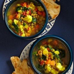 Slow-Cooker Moroccan Lentil Soup - EatingWell.com: double the spices & add some garlic salt