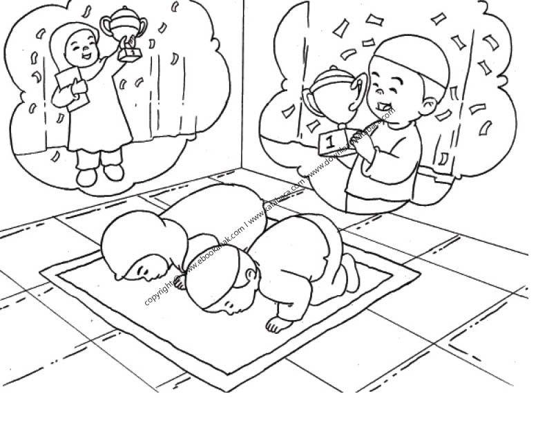Gambar Mewarnai Anak Sedang Melakukan Sujud Syukur 28 Ebook