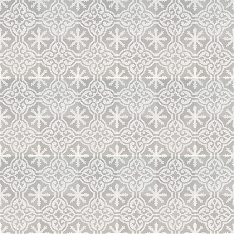 Grey moroccan bazaar reproduction tile layout jatana - Grey bathroom floor tiles texture ...