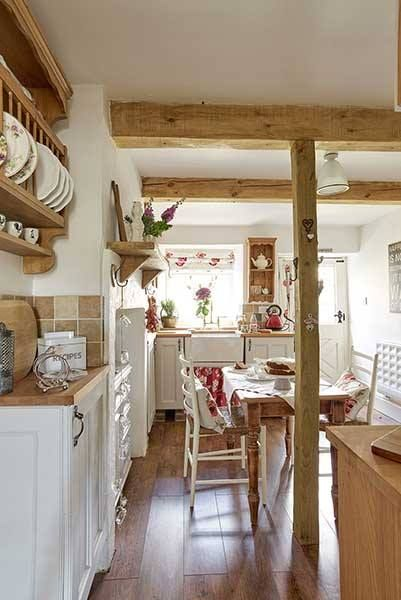 Vidéki porta küche esszimmerlandhaus