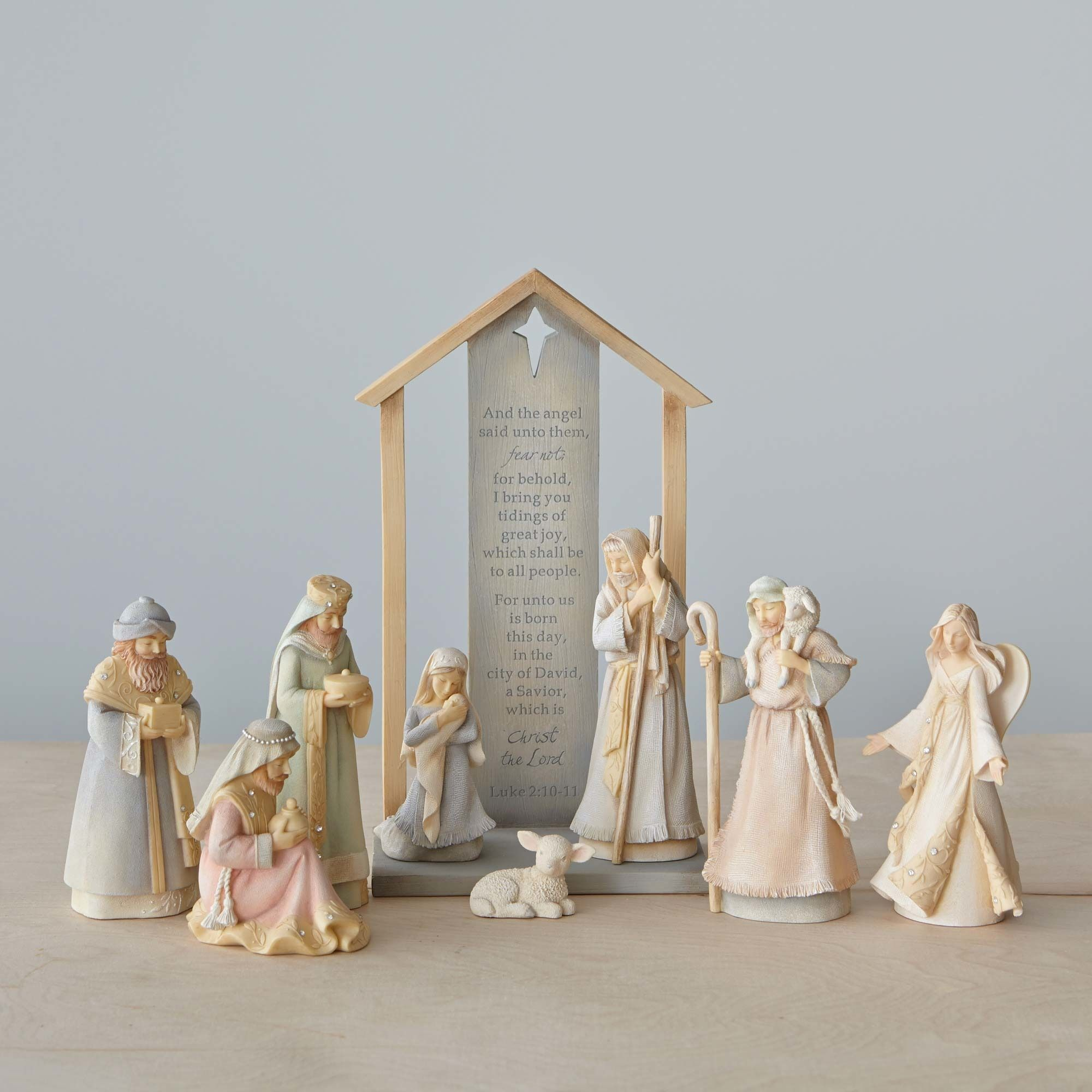 9 Piece Foundations Nativity Set | Holy family, Miniatures and Resin
