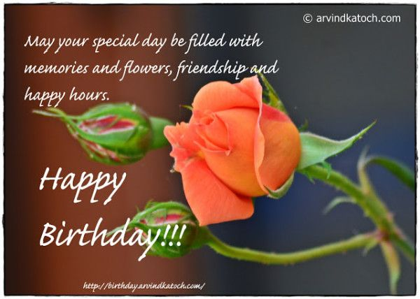 May your special day be filled with memories wb02523 happy birthday wishes with flowers page 12 m4hsunfo