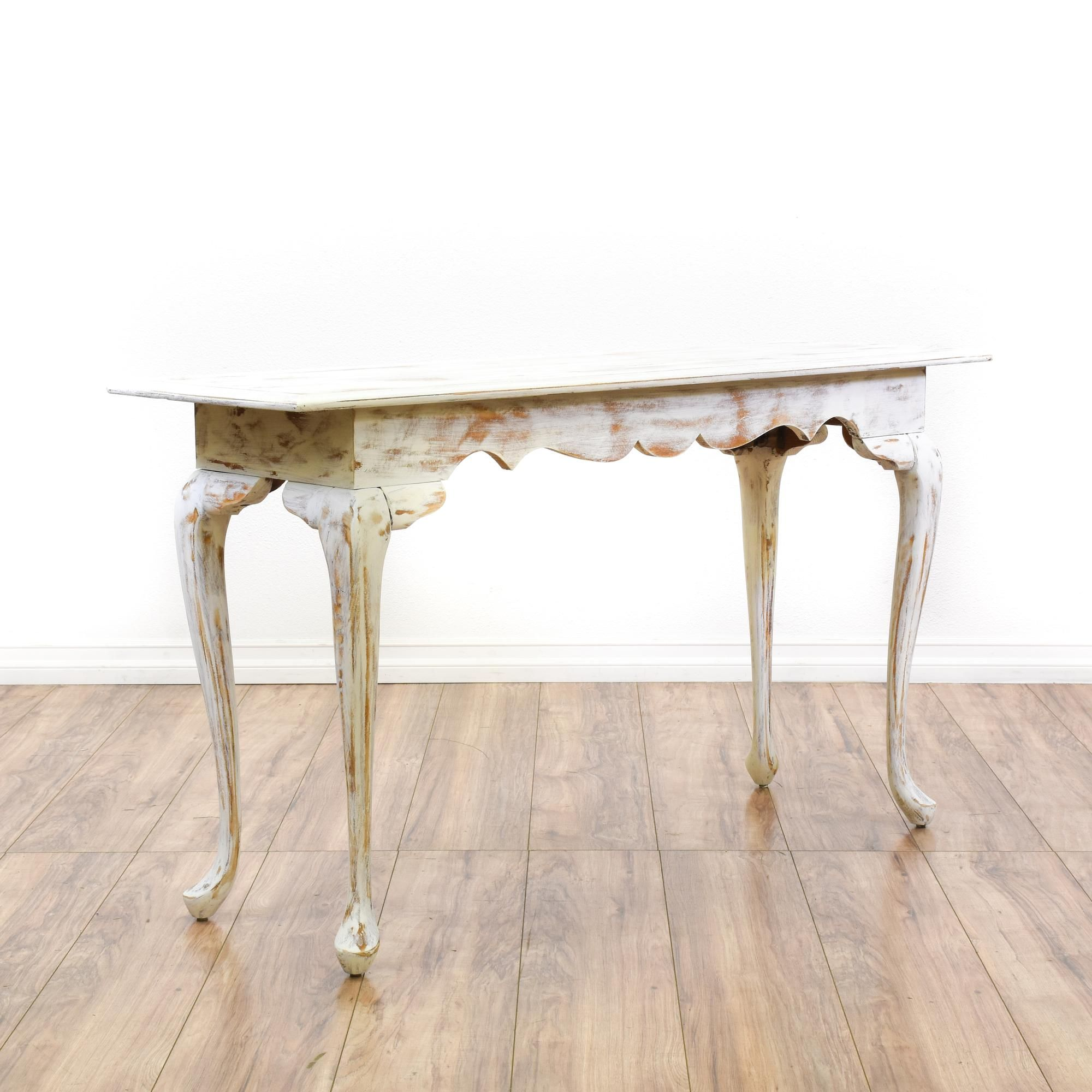 White Shabby Chic Console Sofa Table Distressed Sofa Table