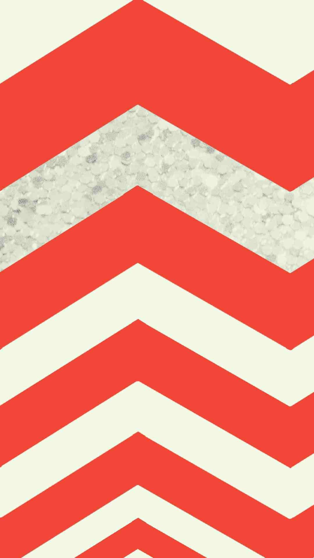 Huge Red Chevron Pattern IPhone 6 Plus Wallpaper