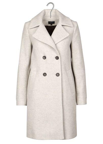 a0690feef090 Manteau à double boutonnage en laine Blanc by CAROLL   Fashion ...