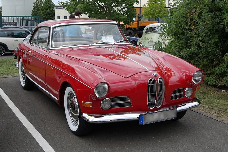 Bmw 503 2 Door 4 Seater Sports Car 1955 With Images Bmw 4 Seater Sports Cars Classic Cars