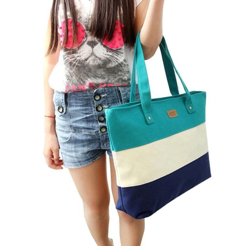 2016 Women Canvas Bag Casual Tote ladies big handbags