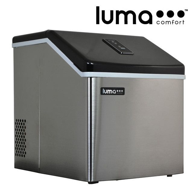Modern Air Plus   Luma Comfort Stainless Steel Portable Clear Ice Maker